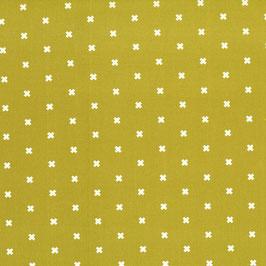 Cotton+Steel / Basics / Cross / Mustard