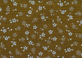 Sakura Ochre Asanoha Forest Green / Double Face
