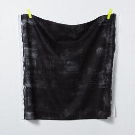 Nani Iro / Peinture a l'eau Alphabet / E / Herringbone Canvas / Leinen-Baumwollstoff