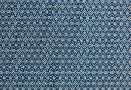 Asanoha / Petrol Blue / laminiert