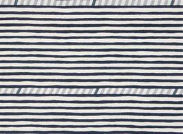 Echino / Lines / Navy Blue / Double Gauze