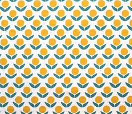 Ellen Baker für Kokka / Blume gelb weiss