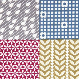 Ellen Baker für Kokka / Garden /Cheater Print / Jewel / laminiert