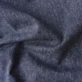 Robert Kaufman / Essex Yarn Dyed Homespun / Navy / Baumwoll-Leinenstoff