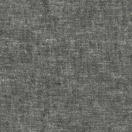 Robert Kaufman / Essex Yarn Dyed / Black / Baumwoll-Leinenstoff