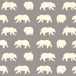 Birch Organic Fabrics / Bear Hike / Shroom / Jersey / REST 90 x 110 cm