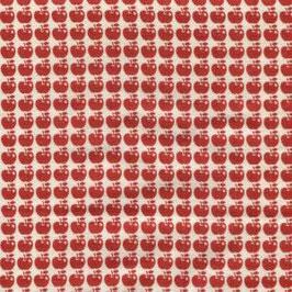 Tréfle / Kleine Äpfelchen / Rot / Double Gauze