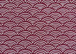 Seikaiha / Red / Beidseitig bedruckt