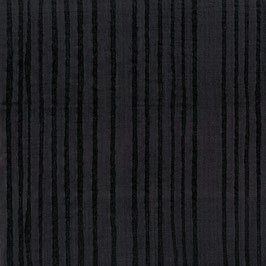 Nani Iro Nani Iro / BEAU Yin Yang  / AAAA SAAA Noir / Dark Grey / Satinierter Baumwollstoff
