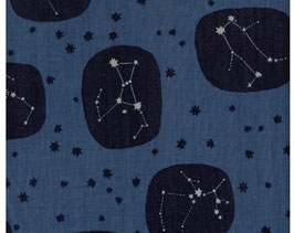 Tréfle / Constellations / Night Blue / Double Gauze