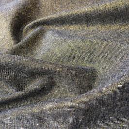 Robert Kaufman / Essex Yarn Dyed Metallic / Storm / Baumwoll-Leinenstoff