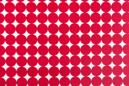 Number Five / Dots / Red / laminiert