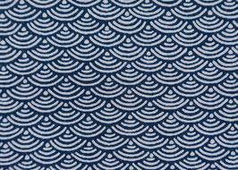 Seikaiha / Blue / Beidseitig bedruckt