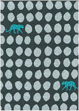 Echino / Leopard Dots / Charcoal / Jersey Jacquard