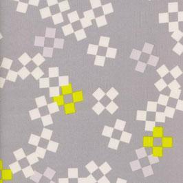 Cotton+Steel / Frock  / Pixel Print / Neon