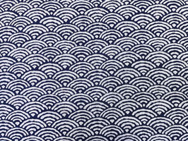 Seikaiha Rustic / Indigo Blue