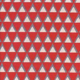 Ellen Baker für Kokka/ Triangle Rot