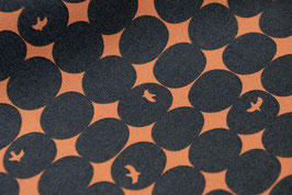 Tréfle / Bird Ovals / Dark Blue / Canvas