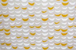 Hokkoh / Waves white / yellow / REST 73 x 110 cm