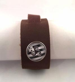 Bracelet cuir Plat Velvet