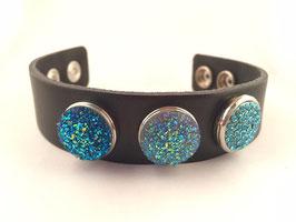 Bracelet cuir 3 Snaps