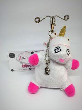 "Bijou de sac ""Porte-clef"" Fluffy la Licorne"