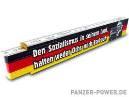 """Zollstock """"Den Sozialismus..."""