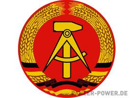 Aufkleber - DDR Emblem rund 20cm