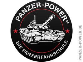 Aufkleber Panzer-Power schwarz