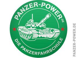 Aufkleber Panzer-Power grün