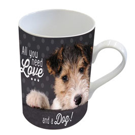 "Henkelbecher ""Love and a dog"""