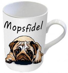 """Henkelbecher """"Mopsfidel"""""""