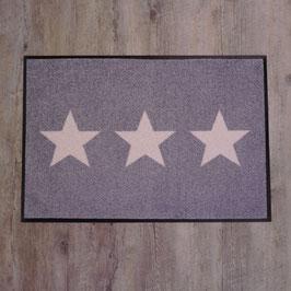 """Waschbare Fußmatte """"Stars"""" von wash+dry"""