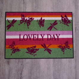 """Waschbare Fußmatte """"Lovely Day"""" von wash+dry"""
