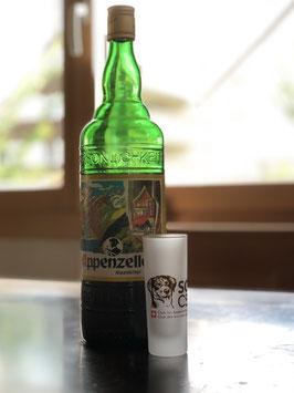 Schnapsglas satiniert mit SCAS-Logo