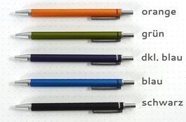 Mini-Kugelschreiber von Lindauer, metallic, glatt