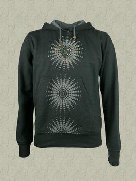 Mandala-Sweatshirt schwarz