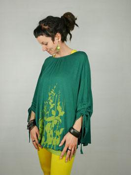 Viskoseponcho grün