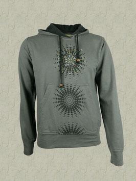 Mandala-Sweatshirt grau