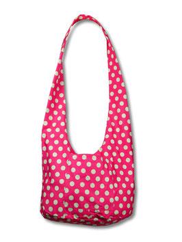 Umhängetasche pink dots