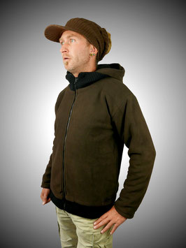 Fleece-Wendejacke braun