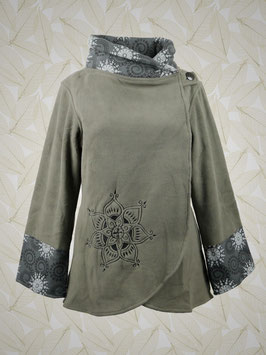 Fleece-Wickeljacke grau