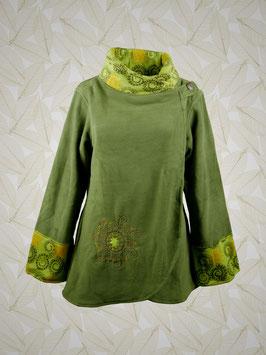 Fleece-Wickeljacke grün