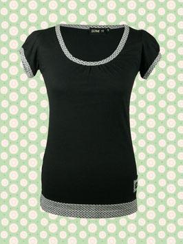 Immerschön - Kurzarm-Shirt schwarz-grau