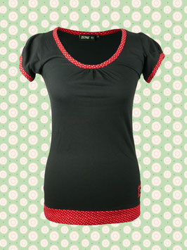 Immerschön - Kurzarm-Shirt schwarz-rot