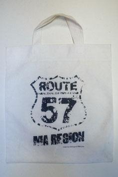 Sac en toile - Route 57 - Blanc
