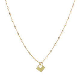 Goldfilled Keychain Necklace Square