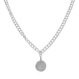Silver Royal Necklace Big Coin