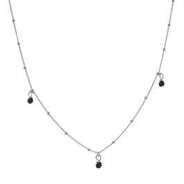 Silver Galaxy Necklace Onyx