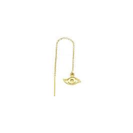 Goldfilled Earchain Evil Eye